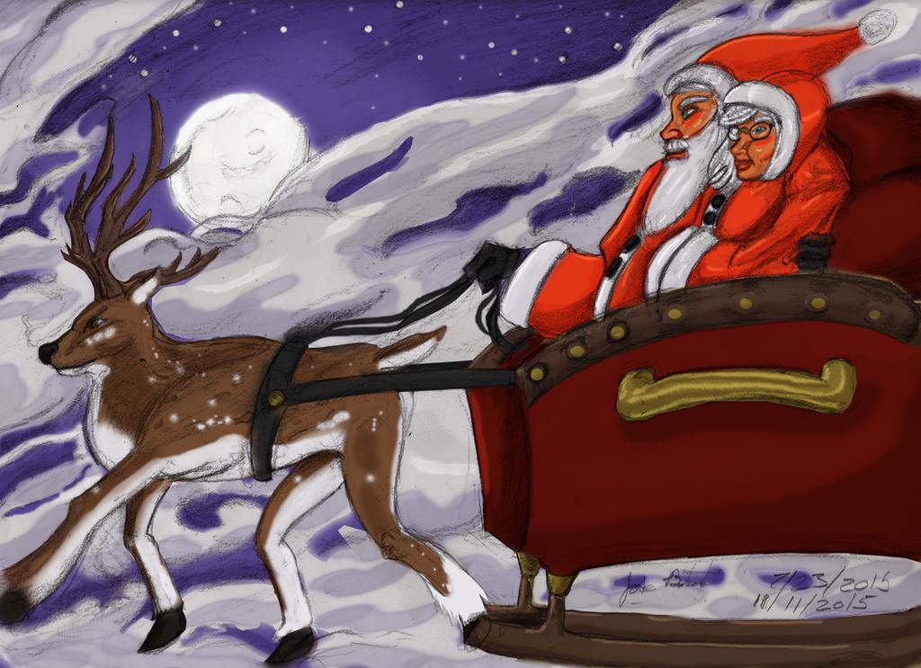 Moon-lit Christmas Trip (color) by JoseMiguelBatistajr