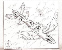 Flying! by PhoenixPeregrine