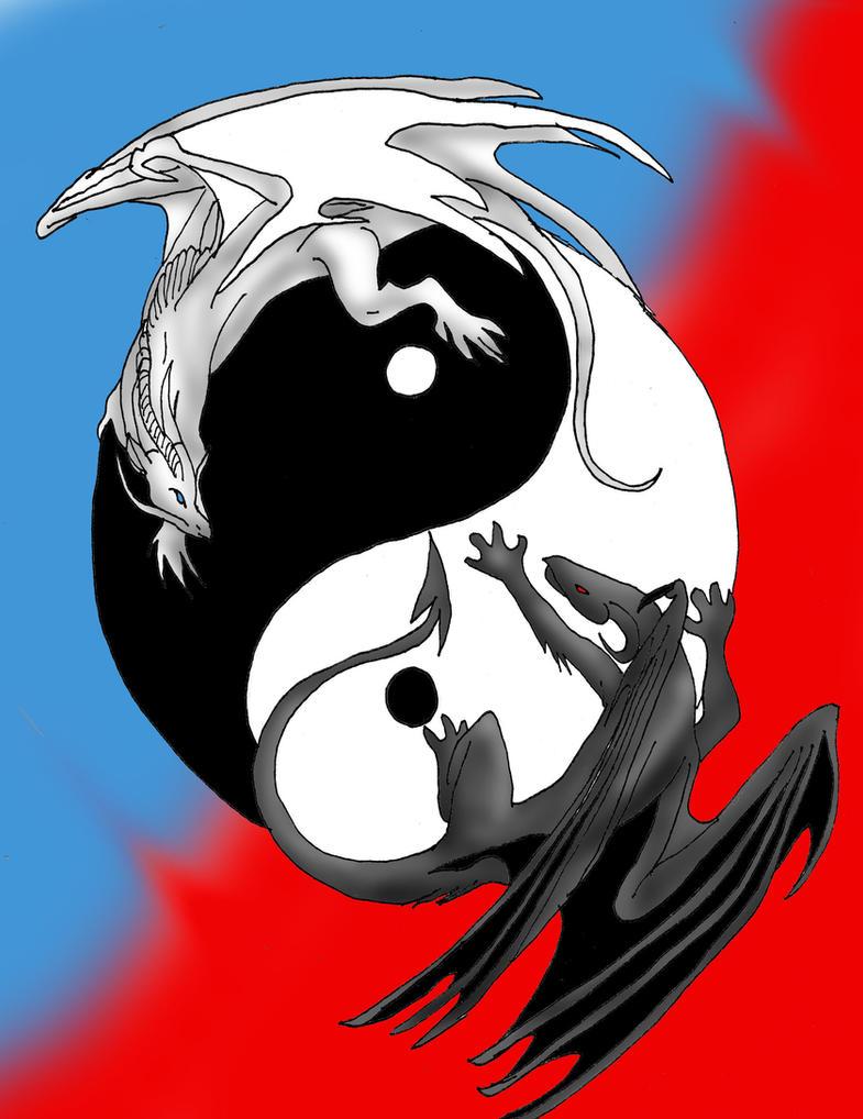 Yin Yang Dragons by She-A-Nice on DeviantArt