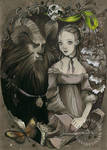 Beauty and the Beast - card by nati