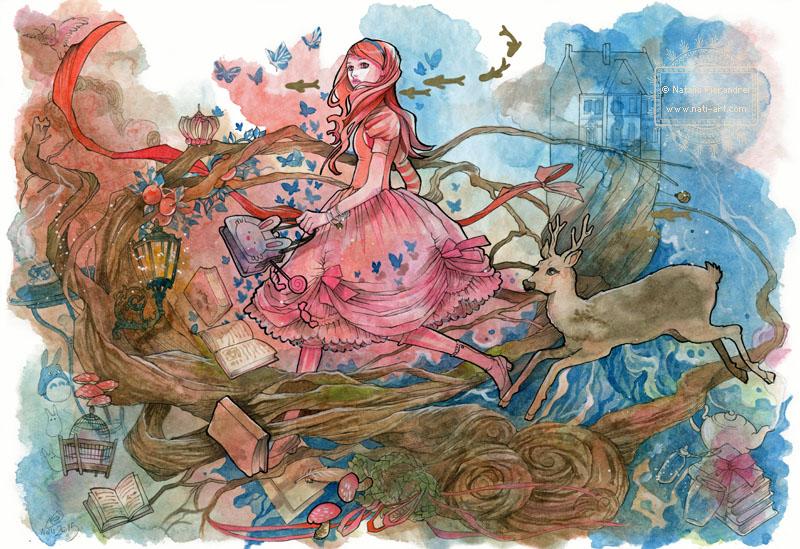 Travel through Wonderland by nati