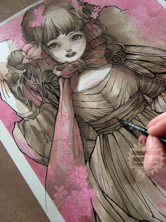 The Cherry Blosson Doll - in progress by nati