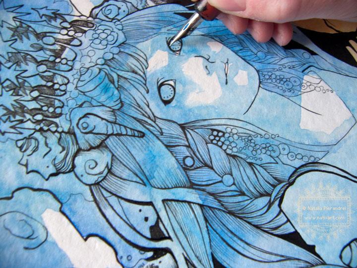 A Queen in Blue - Work in progress by nati
