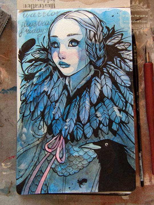 Illustration Friday - Warrior by nati