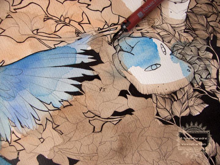 Blue like the Sky - in progress by nati
