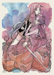 Two Roses - Utena and Anthy Fanart