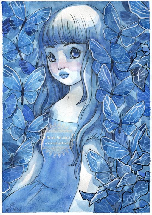 In the Garden of Blue Butterflies by nati