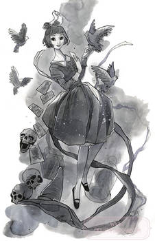 A Witch with Pigeons