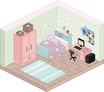 Pixel Bedroom by Cybambie