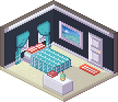 Small Beach House Room by Cybambie
