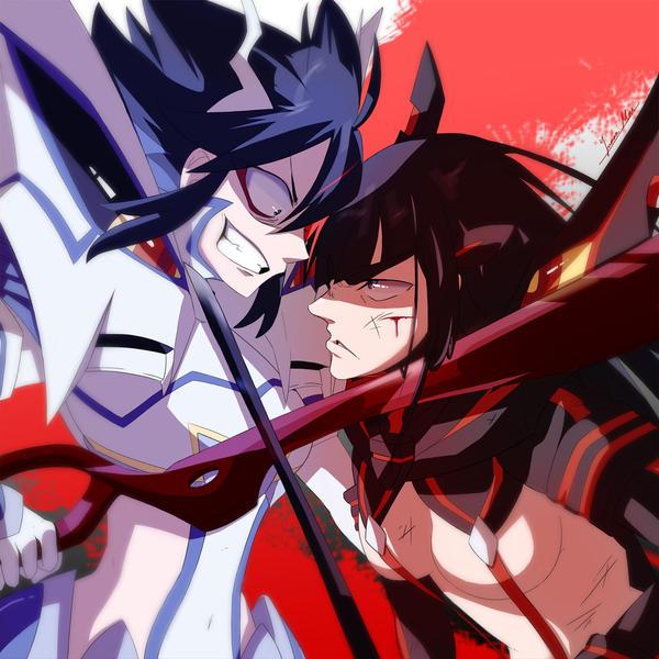 Ryuko VS Satsuki by Yurax-Mae