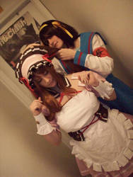 Mikuru and Haruhi 1 by SailorUsagiChan