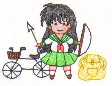 Super Chibi Kagome by SailorUsagiChan