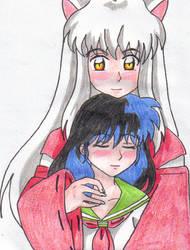 Kagome and InuYasha Hug by SailorUsagiChan