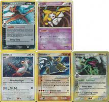 Pokemon rare cards by SailorUsagiChan