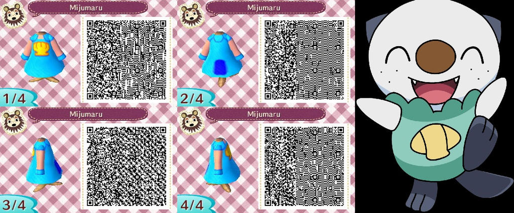 Animal Crossing New Leaf QR Code - Mijumaru Dress by SailorUsagiChanQr Codes Animal Crossing New Leaf Pokemon