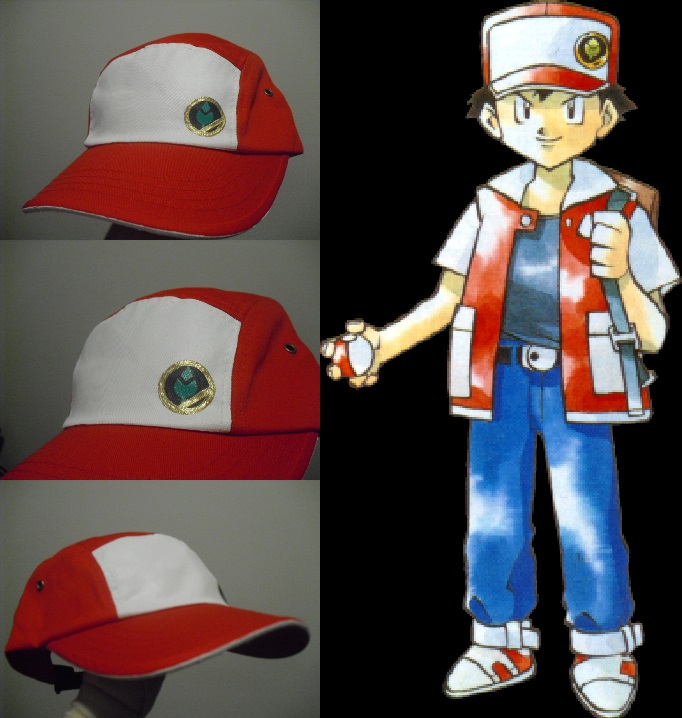 Commisson Hand Painted Reds Hat Pokemon By Sailorusagichan On
