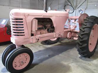 Vintage Pink Tractor