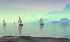 Boat island Background