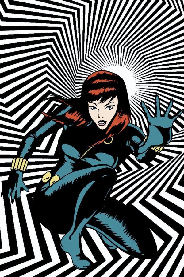 Black Widow - Op Art by MannyHernan
