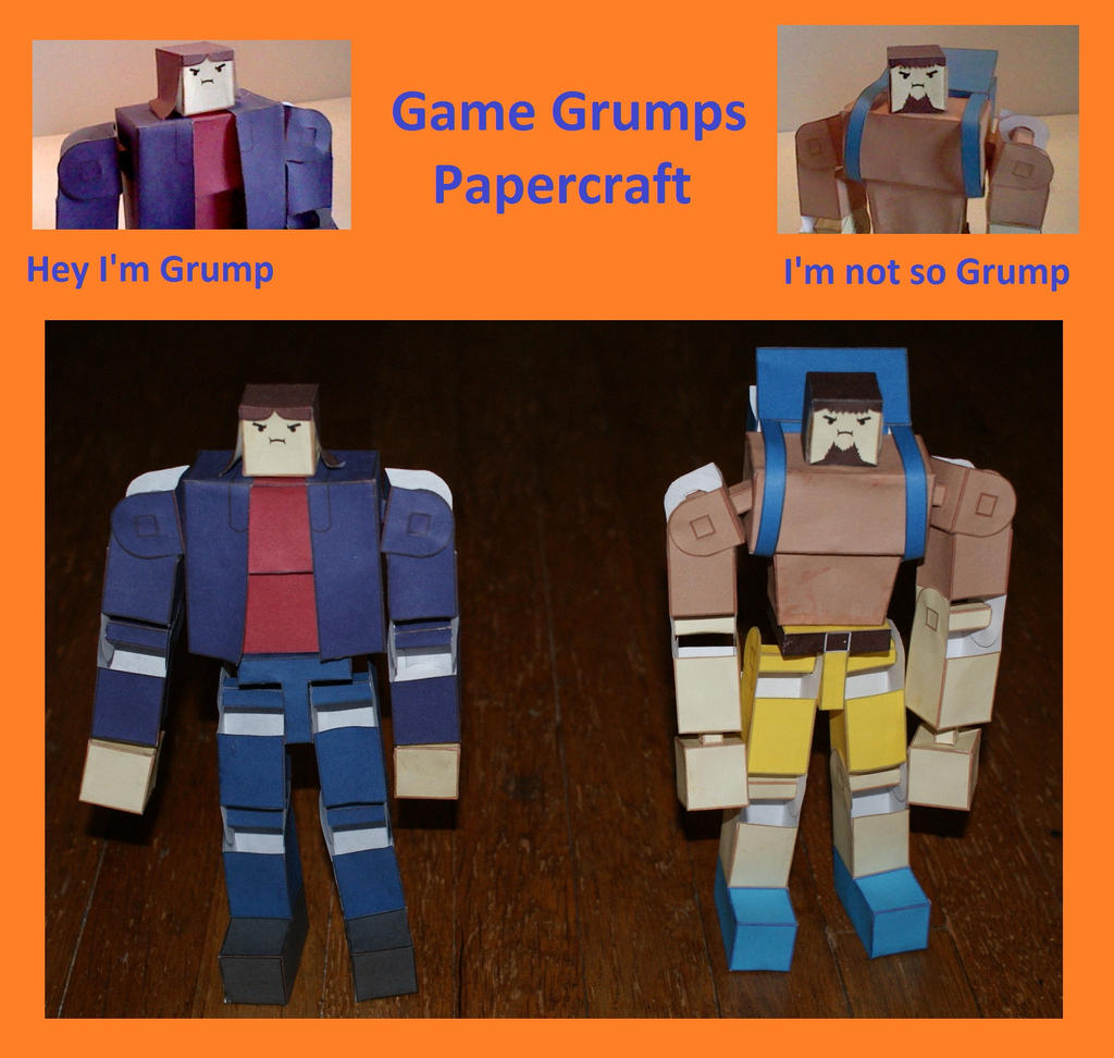 Game Grumps Papercraft Build and Download