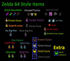 Ocarina of Time Style Zelda Items