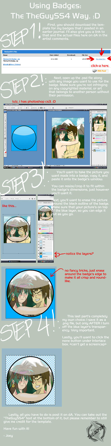 Badge Tutorial by JoeyTheMostAwesome