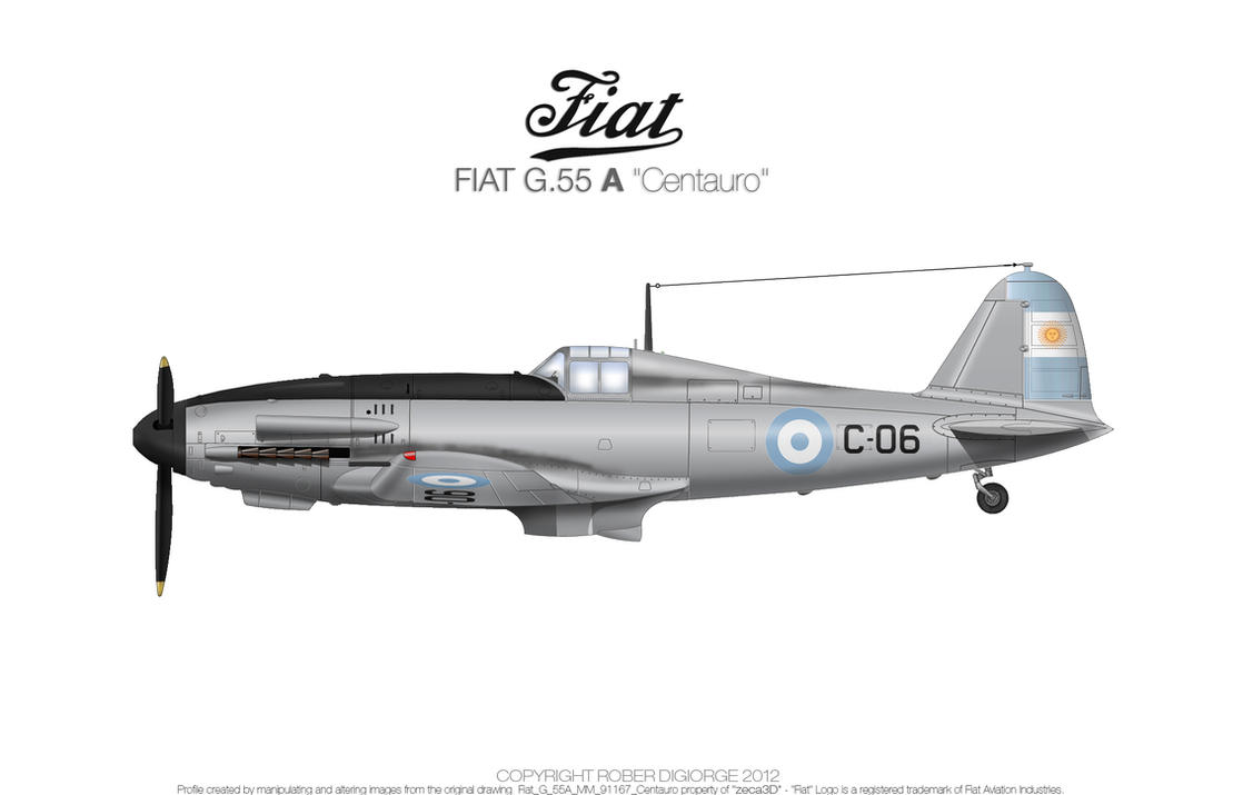 Fiat G.55A Centauro by Roberdigiorge