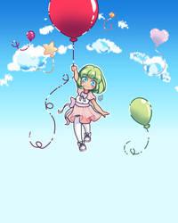 Balloon Girl by bunnara