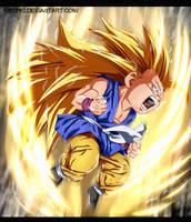Kid Goku ssj 3 -Dragon Ball by k9k992