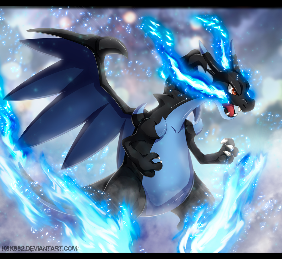 Mega Charizard X by k9k992