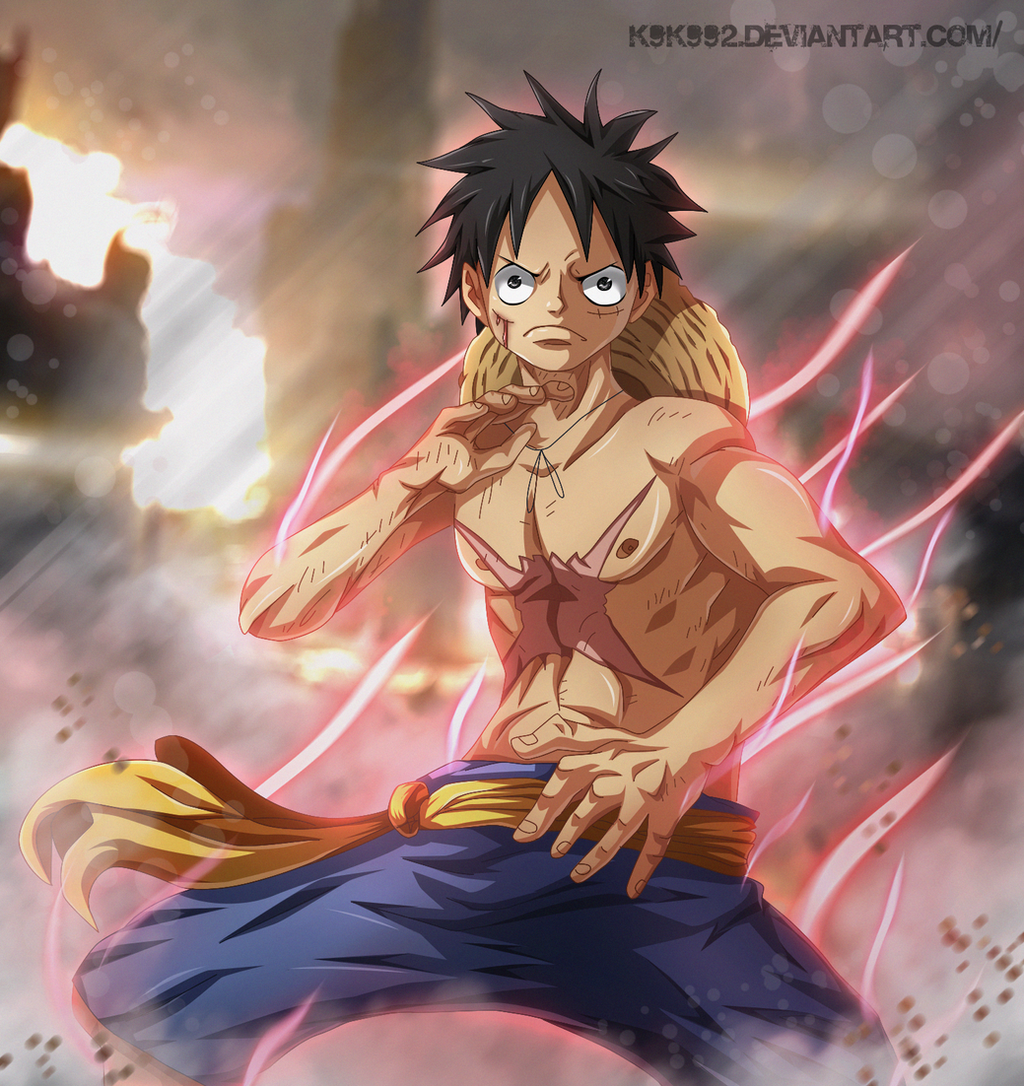Luffy Gear Second By K9k992 On Deviantart