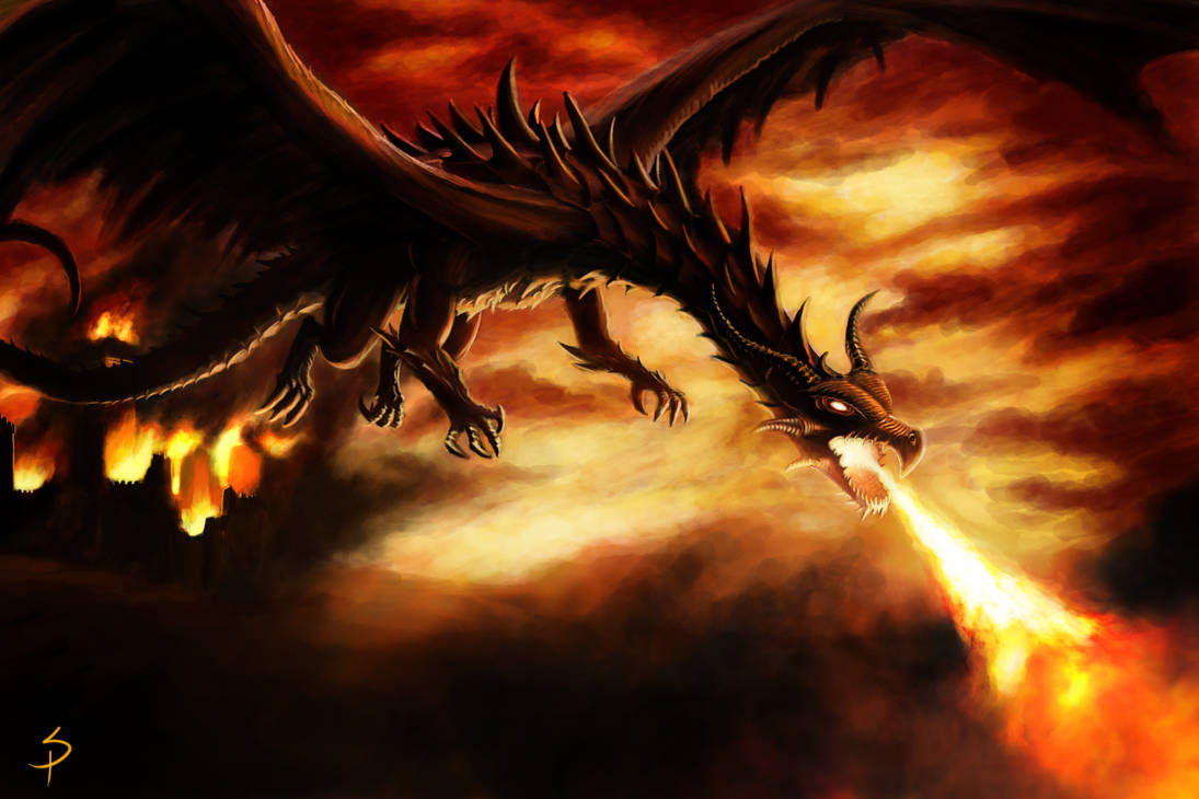 Dragon attack by SigbjornPedersen
