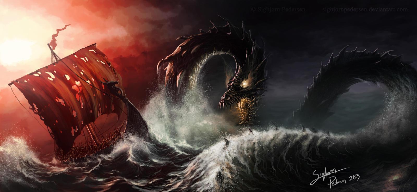The world serpent by SigbjornPedersen