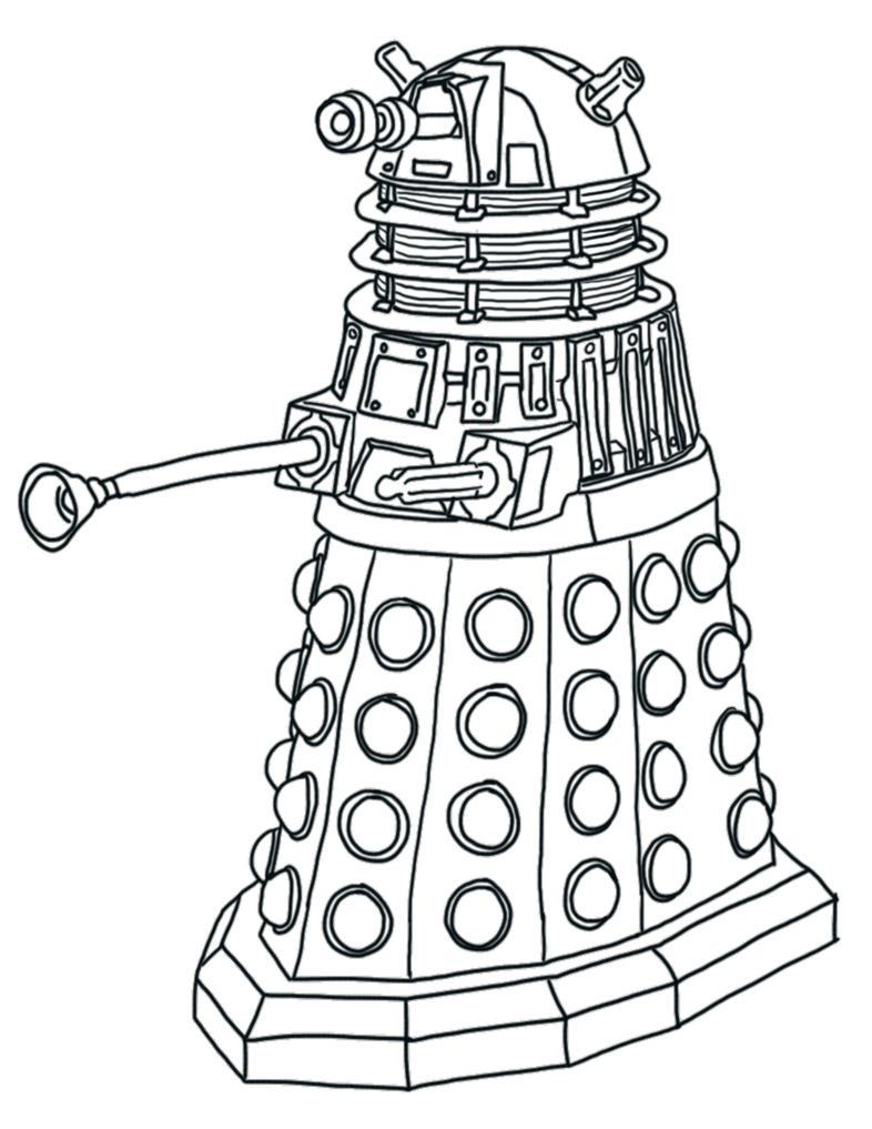 Line Drawing Of A Doctor : Dalek lineart by frozenmorningstar on deviantart