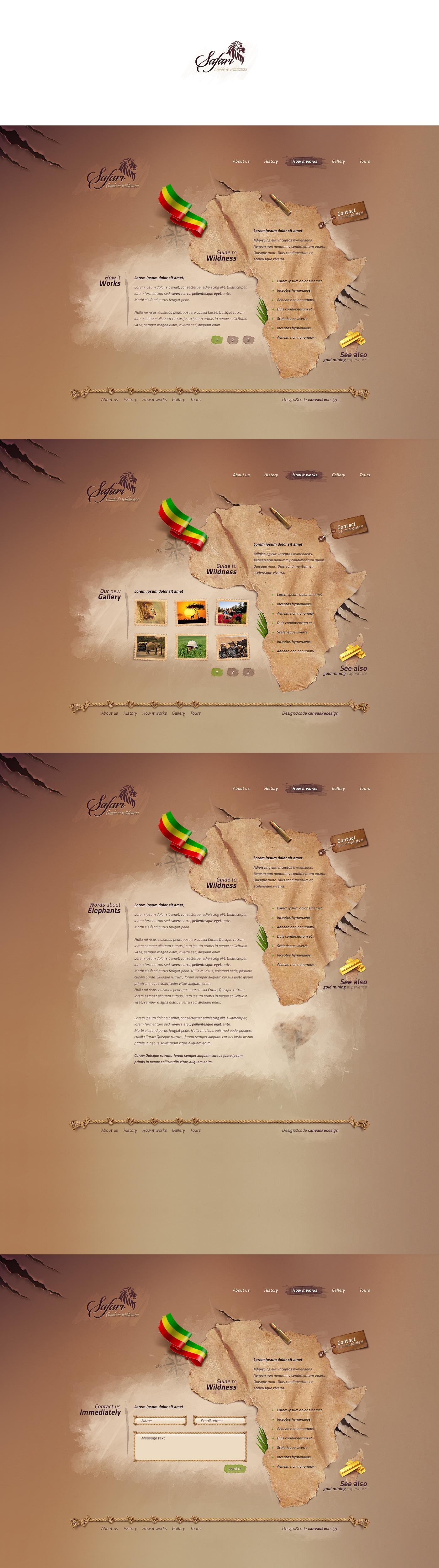 Safari lejek by canvaske