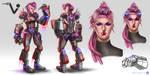 League of Legends_VI_Cyberpunk_Conceptart by Kashuse