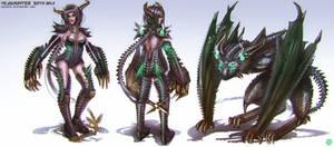 League of Legends_Shyvana_Headhunter_Conceptart