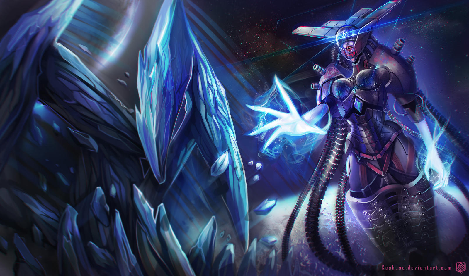 League of Legends_Lissandra_Space Cyborg_Splash by Kashuse ...