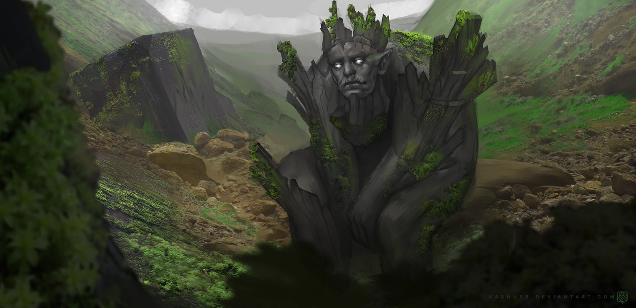 Old Golem King by Kashuse
