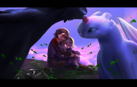 Love is in the air (How to Train Your Dragon)