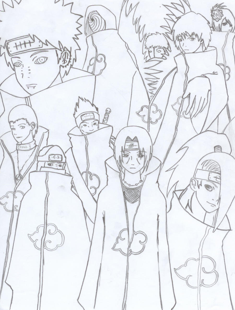 Akatsuki Group Sketch By Lazy Perfs On Deviantart