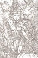 Siva and Katsu pencils by RevolverComics