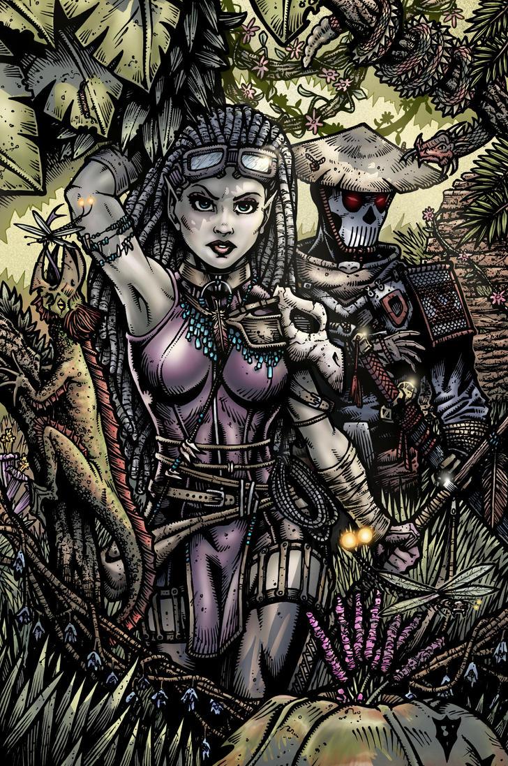 Siva and Katsu by RevolverComics