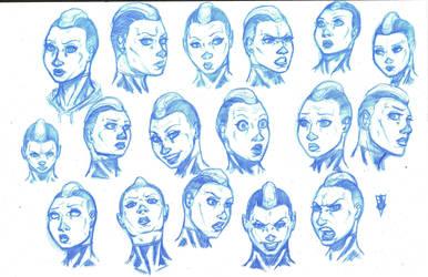 Mary of Silence sketches by RevolverComics