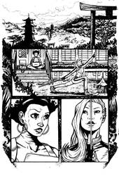 Daughters of the Dragon samples pg 1 by RevolverComics