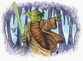 Yoda watercolors