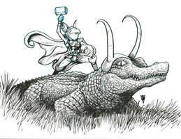 Throg and alligator Loki