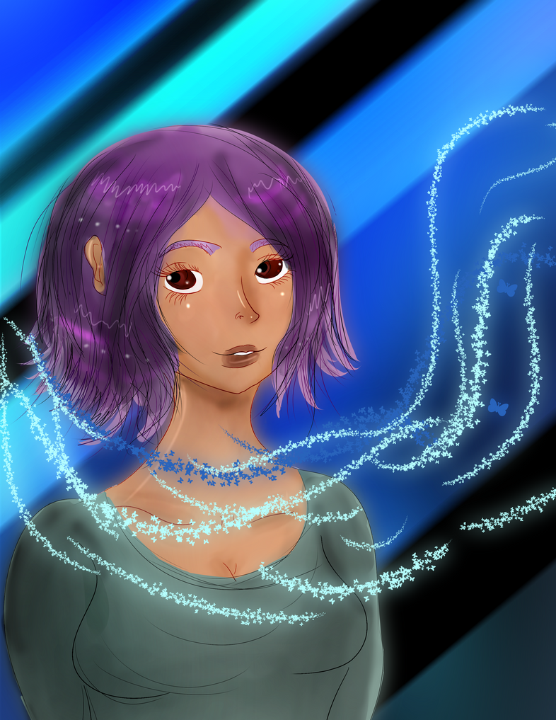Beautiful Purple hair by Tonxbunny94