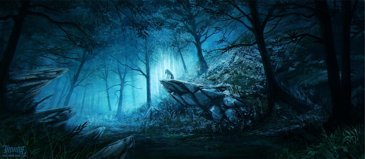 azure forest by vesner